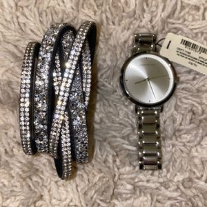 Watch and matching snap bracelet